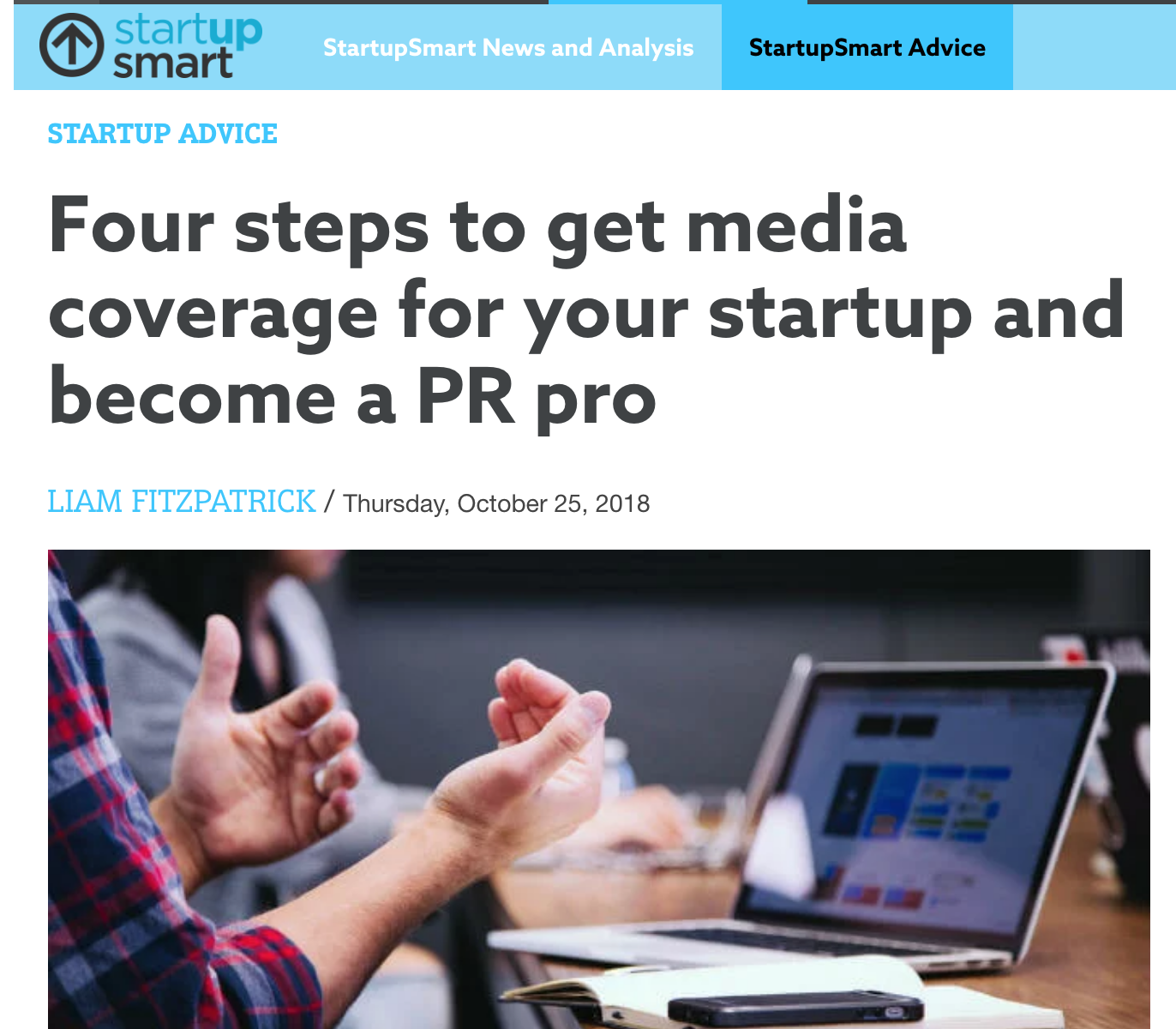 SmartCompany - Four PR Tips - Liam Fitzpatrick - Commswork - B2B tech PR agency Brisbane Sydney Melbourne.